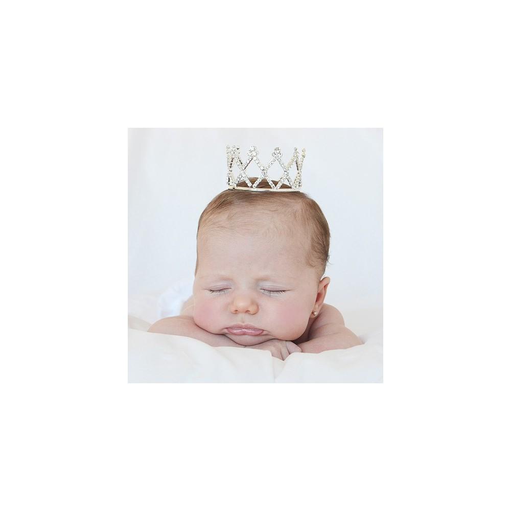 Corona tiara de brillantes para bebés