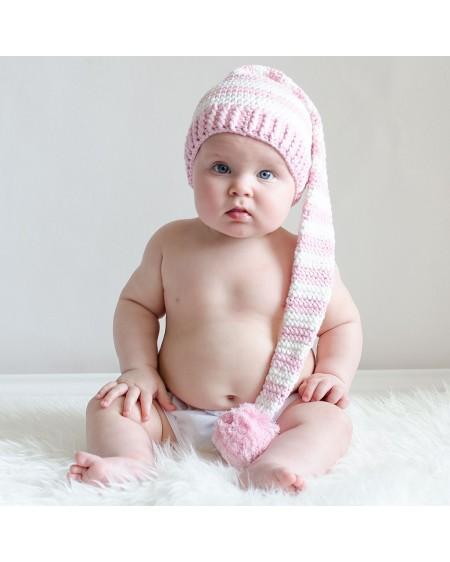 Gorrito bebé duende a rayas para niñas