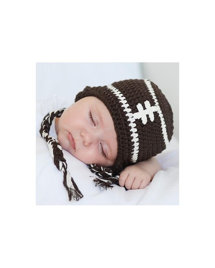50afc8b19953d Gorro crochet para bebé Rugby