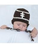 Gorro crochet para bebé Rugby