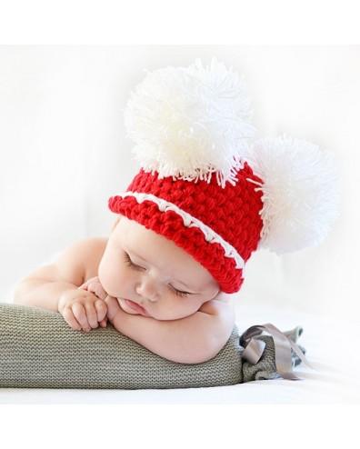 Gorro Navidad con 2 pompones