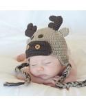 Gorro para bebé de crochet Alce Navidad
