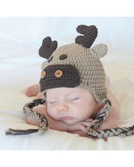 Gorro para bebé de crochet Alce
