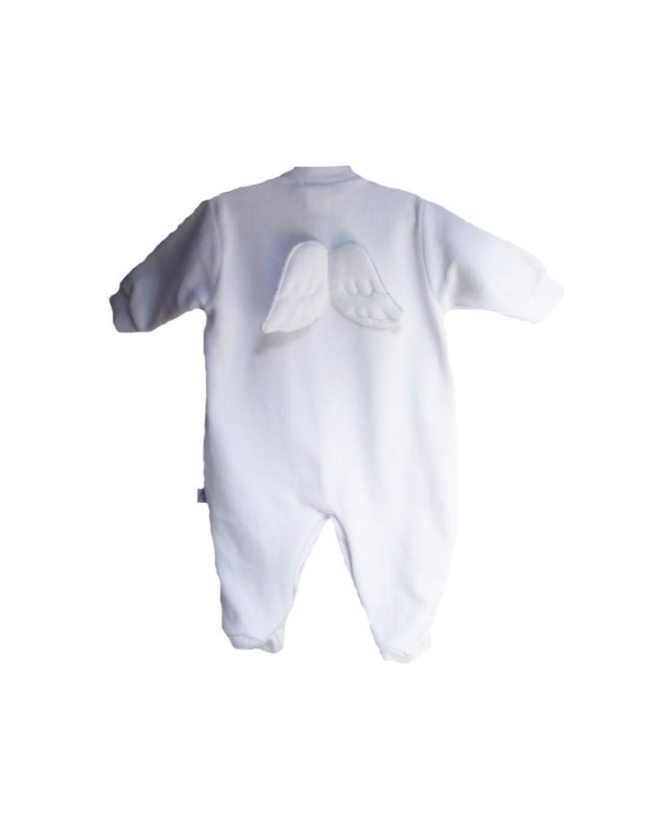Pijama aterciopelado con alas de ángel en la espalda