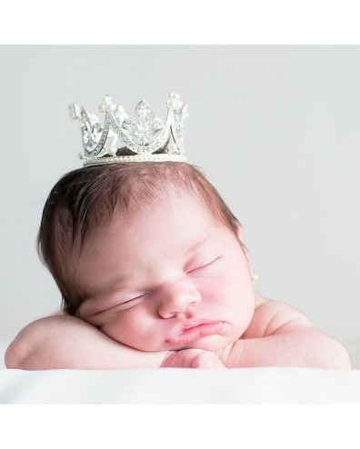 """Corona tiara """"Elisabeth"""" de brillantes para bebés"""
