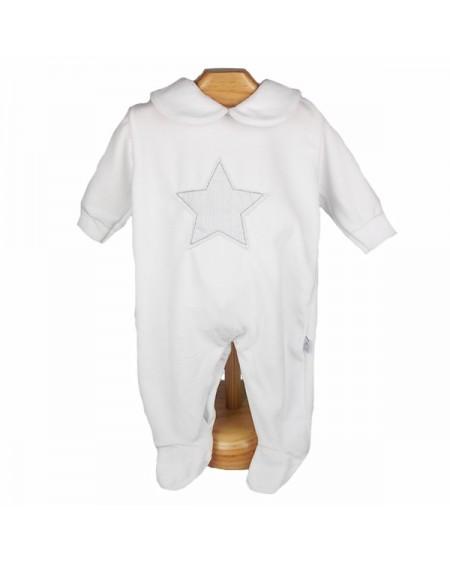 Pijama para dormir con estrella gris