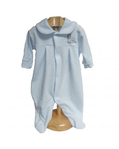 Pijama aterciopelado con conejito en varios colores
