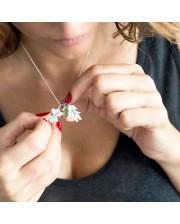 Collar de plata personalizado para mamá
