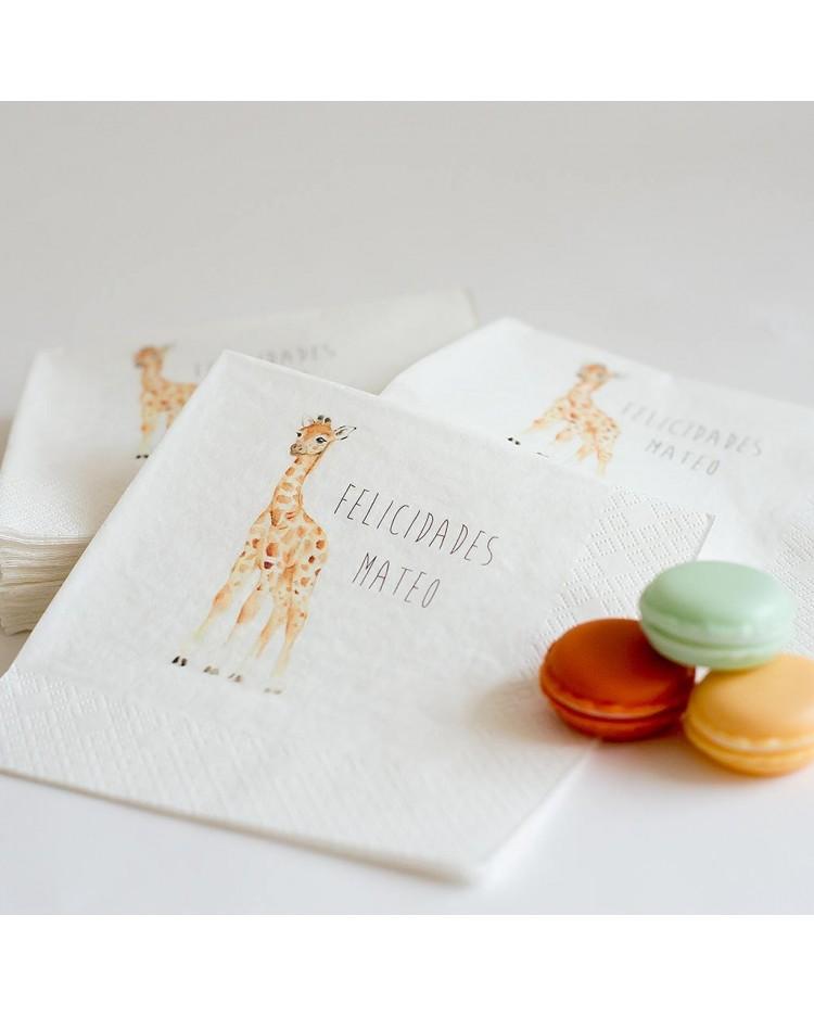 60 servilletas personalizadas para Fiestas Infantiles