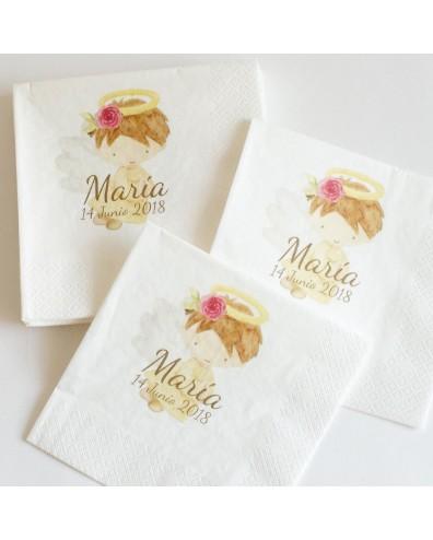 """60 servilletas personalizadas de Bautizo """"Angelita"""""""