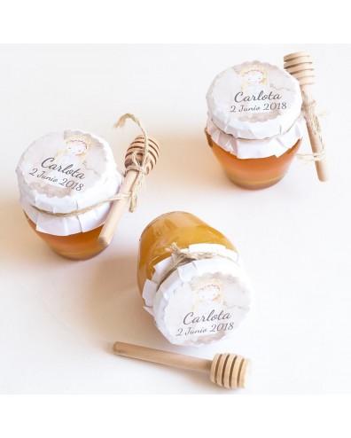 6 tarritos de miel personalizados para invitados