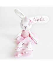 Conejo bailarina para bordar con nombre