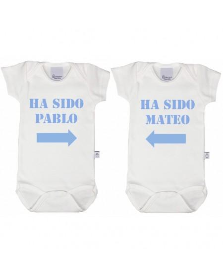 Bodys personalizados para gemelos o mellizos, niños y niñas
