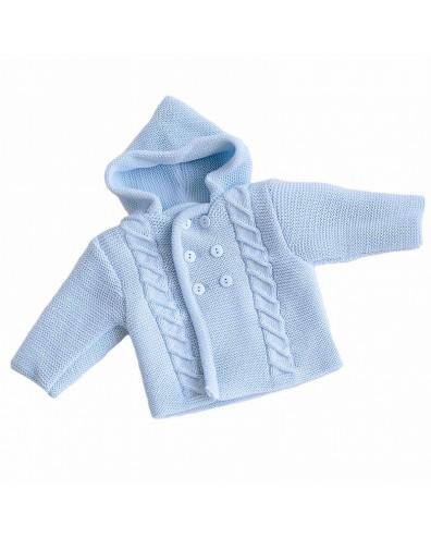 Abrigo de punto con capucha