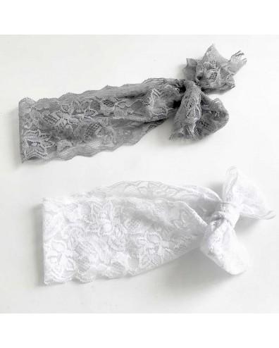 Diadema encajes ancha para beb