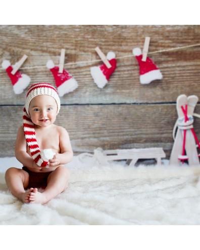 Decorado navideño para fotografia