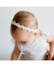 Diadema cinta raso perlitas