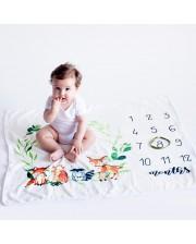 Manta crecimiento animalitos para hacer fotos al beb