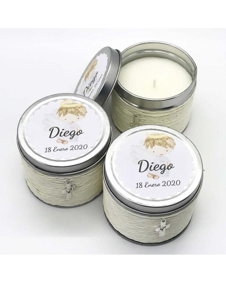 6 Detalles para invitados velas olor vainilla