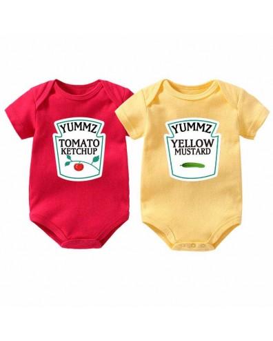 Bodys divertidos para bebés gemelos Ketchup y Mostaza