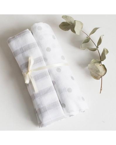 Muselina bebé algodón - set de 2