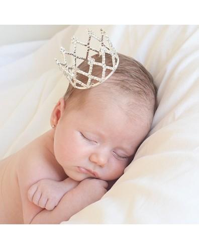 Corona tiara de brillantes para beb