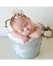 Corona tiara de brillantes para bebé