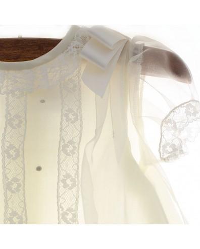 pelele bautizo con capota
