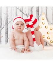 Gorro duende Navidad rojo y blanco