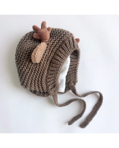 Gorro bebé de punto reno