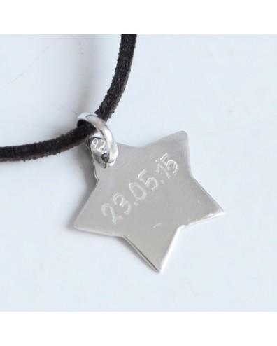 Collar con colgante de estrella de plata