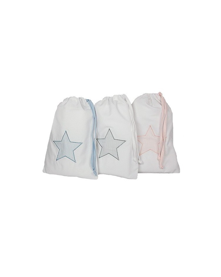 Bolsa para pañales con estrella en 3 colores